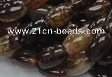 CAG699 15.5 inches 10*14mm rice dragon veins agate beads wholesale