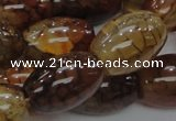 CAG700 15.5 inches 18*25mm rice dragon veins agate beads wholesale