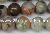 CAG7005 15.5 inches 14mm round ocean agate gemstone beads