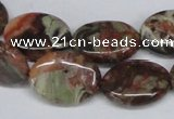 CAG7039 15.5 inches 15*20mm oval ocean agate gemstone beads