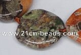 CAG7050 15.5 inches 15*20mm - 30*40mm freeform ocean agate beads