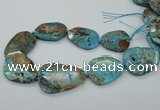 CAG7072 15.5 inches 30*40mm - 35*50mm faceted freeform ocean agate beads