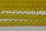 CAG7100 15.5 inches 4mm round yellow agate gemstone beads