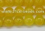 CAG7104 15.5 inches 12mm round yellow agate gemstone beads