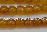 CAG7114 15.5 inches 9*10mm apple-shaped yellow agate gemstone beads