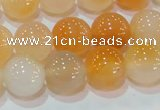 CAG7134 15.5 inches 12mm round red agate gemstone beads