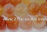 CAG7135 15.5 inches 14mm round red agate gemstone beads