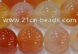 CAG7136 15.5 inches 16mm round red agate gemstone beads