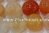 CAG7137 15.5 inches 18mm round red agate gemstone beads