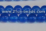 CAG7160 15.5 inches 8mm round blue agate gemstone beads