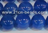 CAG7163 15.5 inches 14mm round blue agate gemstone beads