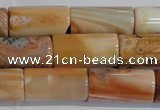 CAG7312 15.5 inches 10*20mm tube red botswana agate beads