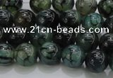 CAG7322 15.5 inches 8mm round dragon veins agate beads wholesale