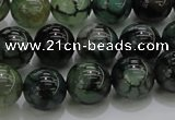 CAG7324 15.5 inches 12mm round dragon veins agate beads wholesale