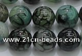 CAG7326 15.5 inches 16mm round dragon veins agate beads wholesale