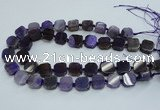 CAG7352 15.5 inches 14*15mm - 16*18mm octagonal dragon veins agate beads