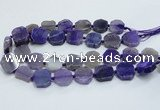 CAG7358 15.5 inches 18*20mm - 20*22mm octagonal dragon veins agate beads