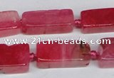 CAG7372 15.5 inches 8*20mm - 10*25mm cuboid dragon veins agate beads