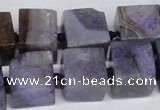 CAG7383 15.5 inches 11*12mm - 13*14mm cube dragon veins agate beads
