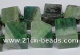 CAG7385 15.5 inches 11*12mm - 13*14mm cube dragon veins agate beads