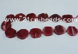 CAG7398 15.5 inches 25*25mm - 30*35mm freeform dragon veins agate beads