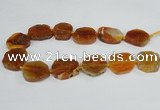 CAG7402 15.5 inches 25*30mm - 30*35mm freeform dragon veins agate beads