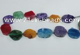 CAG7404 15.5 inches 22*25mm - 25*35mm freeform dragon veins agate beads