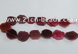 CAG7411 15.5 inches 25*27mm - 30*32mm freeform dragon veins agate beads