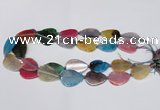 CAG7414 20*25mm - 25*30mm flat teardrop dragon veins agate beads