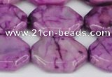 CAG7435 15.5 inches 20*30mm octagonal crazy lace agate beads