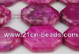 CAG7436 15.5 inches 20*30mm octagonal crazy lace agate beads