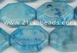 CAG7438 15.5 inches 20*30mm octagonal crazy lace agate beads