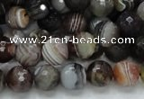 CAG745 15.5 inches 12mm faceted round botswana agate beads wholesale