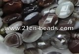 CAG756 15.5 inches 10*14mm faceted oval botswana agate beads