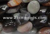 CAG757 15.5 inches 12*16mm faceted oval botswana agate beads