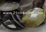 CAG758 15.5 inches 18*24mm faceted oval botswana agate beads