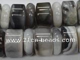 CAG788 15.5 inches 6*18mm & 12*18mm rondelle botswana agate beads