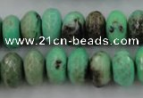CAG7888 15.5 inches 10*14mm faceted rondelle grass agate beads