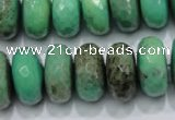 CAG7889 15.5 inches 12*16mm faceted rondelle grass agate beads