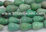CAG7897 15.5 inches 10*14mm teardrop grass agate beads wholesale