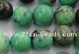 CAG7908 15.5 inches 18mm round grass agate beads wholesale