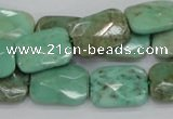 CAG7924 15.5 inches 12*16mm faceted rectangle grass agate beads