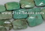 CAG7925 15.5 inches 15*20mm faceted rectangle grass agate beads
