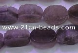 CAG8441 15.5 inches 10*14mm oval grey druzy agate gemstone beads