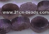 CAG8443 15.5 inches 13*18mm oval grey druzy agate gemstone beads