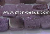 CAG8451 15.5 inches 10*14mm rectangle grey druzy agate gemstone beads