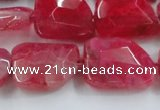 CAG8502 15.5 inches 15*20mm - 18*25mm freeform dragon veins agate beads