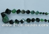 CAG8525 15.5 inches 9*10mm - 23*24mm cube dragon veins agate beads