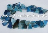 CAG8544 Top drilled 15*20mm - 25*30mm freeform dragon veins agate beads