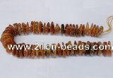 CAG8562 6*22mm - 10*26mm tyre dragon veins agate beads wholesale